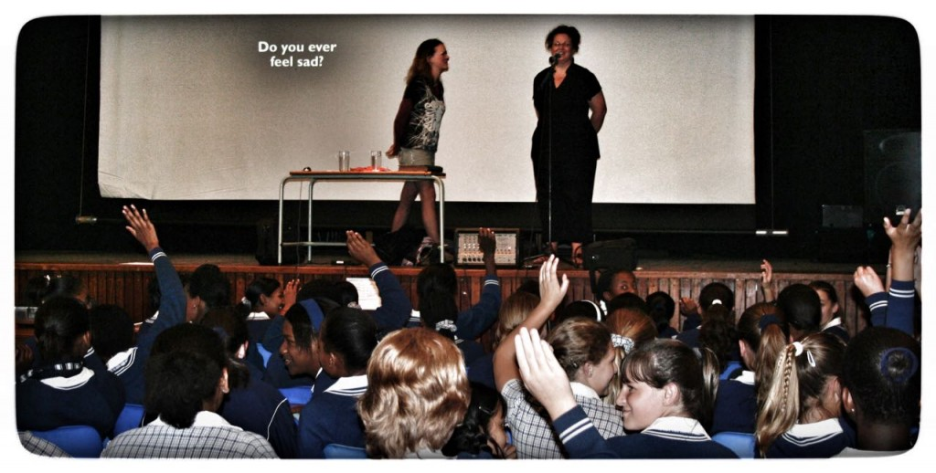 Hosting a BLP workshop (with my sister) at the first school.